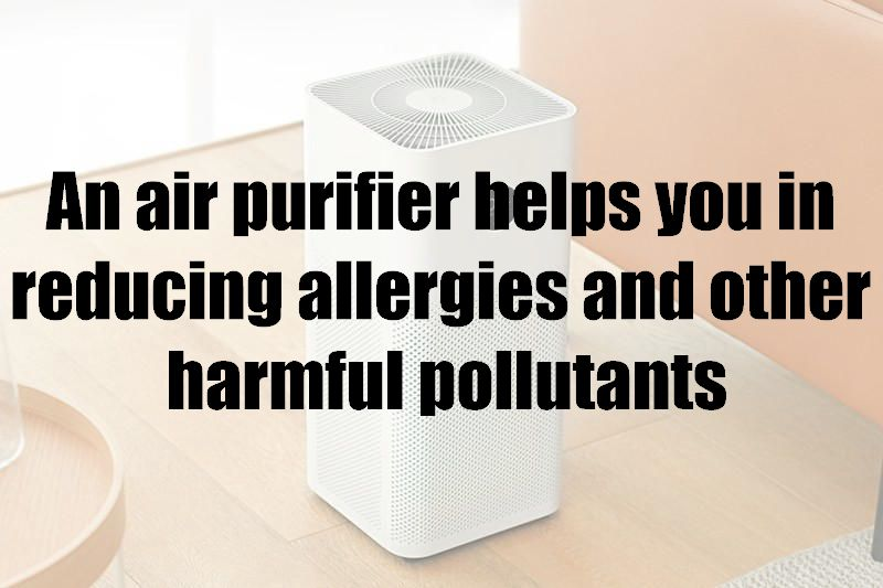 An air purifier helps you in reducing allergies and other harmful pollutants
